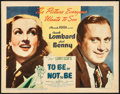 """Movie Posters:Comedy, To Be or Not to Be (United Artists, 1942). Fine/Very Fine. TitleLobby Card (11"""" X 14""""). Comedy.. ..."""