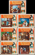 """Movie Posters:Action, Blackbeard the Pirate (RKO, 1952). Overall: Very Fine. Lobby Cards (7) (11"""" X 14""""). Action.. ... (Total: 7 Items)"""