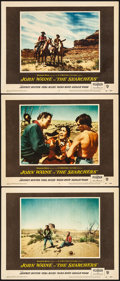 """Movie Posters:Western, The Searchers (Warner Brothers, 1956). Very Fine. Lobby Cards (3) (11"""" X 14""""). Western.. ... (Total: 3 Items)"""
