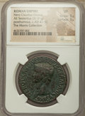 Ancients:Roman Imperial, Ancients: Nero Claudius Drusus (died 9 BC). AE sestertius (35mm, 31.01 gm, 6h). NGC VF 5/5 - 3/5....