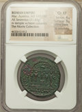 Ancients:Roman Imperial, Ancients: Marcus Aurelius, as Augustus (AD 161-180). AE sestertius (31mm, 21.43 gm, 11h). NGC Choice XF 4/5 - 3/5, Fine Style, lt. smoot...