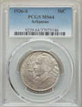 Commemorative Silver, 1936-S 50C Arkansas MS64 PCGS. PCGS Population: (600/597). NGC Census: (405/473). CDN: $100 Whsle. Bid for problem-free NGC...