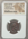 Ancients:Roman Imperial, Ancients: Pertinax (AD 193). AE dupondius (24mm, 9.67 gm, 6h). NGC Choice Fine 4/5 - 2/5....