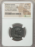 Ancients:Roman Imperial, Macrinus (AD 217-218). AE dupondius (24mm, 11.80 gm, 12h)....