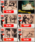 "Movie Posters:James Bond, Viva James Bond: Dr. No & Other Lot (United Artists, R-1970). Fine. Lobby Cards (6) (11"" X 14""). Yves Thos Artwork. James Bo... (Total: 6 Items)"