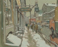 Paintings:Modern  (1900 1949), John Little (Canadian, b. 1928). Rue Saint Paul, Montreal. Oil on canvas. 24 x 30 inches (61.0 x 76.2 cm). Signed lower ...