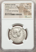 Ancients:Roman Imperial, Ancients: Hadrian (AD 117-138). AR cistophorus (29mm, 10.73 gm,2h). NGC VF 3/5 - 3/5, overstruck....
