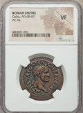 Ancients:Roman Imperial, Ancients: Galba (AD 68-69). AE as (29mm, 6h). NGC VF....