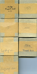 Proof Sets, A Seven-Piece Lot of Unopened 1950s Proof Sets.... (Total: 7 sets)