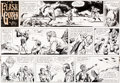Original Comic Art:Comic Strip Art, Dan Barry Flash Gordon Original de la planche du dimanche 19octobre 1969 (King Features Syndicate, 1969)....