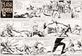 Original Comic Art:Comic Strip Art, Dan Barry Flash Gordon Original de la planche du dimanche 12octobre 1969 (King Features Syndicate, 1969)....