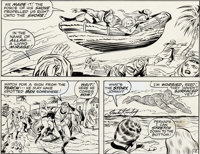 Jack Kirby et Joe Sinnott Fantastic Four n°100 Original de la page 12 (Marvel, 1970)