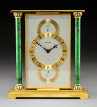 A LeCoultre Gilt Metal Weather Clock, Le Sentier, Switzerland, late 20th century Marks: To face - LECOULTRE, SW