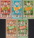 Baseball Cards:Sets, 1969 Topps Team Posters Partial Set (12/24)....