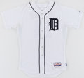Baseball Collectibles:Uniforms, 2012 Austin Jackson Game Worn Detroit Tigers Jersey - Worn DuringTwo 2012 ALDS Playoff Games....