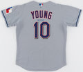 Baseball Collectibles:Uniforms, 2004 Michael Young Signed Game Worn Texas Rangers Jersey - MLB Hologram....