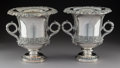 Silver & Vertu:Hollowware, A Pair of English Silver-Plated Wine Coolers, late 19th century. 10-1/2 x 11 x 10 inches (26.7 x 27.9 x 25.4 cm). ... (Total: 2 Items)