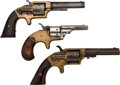 Handguns:Single Action Revolver, Lot of Three Spur Trigger Revolvers.. ... (Total: 3 Items)