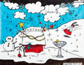 Animation Art:Production Drawing, Peanuts A Charlie Brown Christmas Theme Park Display Artwork(Knott's Berry Farm, c. 1980s/'90s). ...