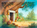 Animation Art:Painted cel background, Winnie the Pooh Painted Background (Walt Disney, c. 1970s)....