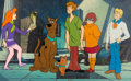 Animation Art:Production Cel, Scooby-Doo Cast Production Cel and Pan Master ProductionBackground Setup Group of 2 (Hanna-Barbera, 1978/'79). ... (Total:2 )
