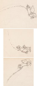 Animation Art:Limited Edition Cel, The Mail Pilot (Mickey postier du ciel) Ensemble de 3 dessins d'animation de Mickey (Walt Disney, 1933).... (Total: 3 Original Art)