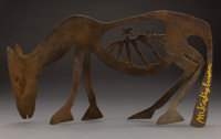 Menashe Kadishman (Israeli, 1932-2015) Motherland Bronze with brown patina 13-1/8 inches (33.3 cm