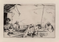 James Abbott McNeill Whistler (American, 1834-1903) Soupe a trois sous, 1859 Etching on Japon paper<