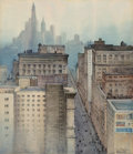 Works on Paper, A. Romilly Fedden (British, 1875-1939). New York from the Flatiron Building, 1920. Watercolor on paper. 23 x 20 inches (...