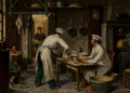 Paintings:Antique  (Pre 1900), Theodore Ceriez (Belgian, 1832-1904). In the Kitchen. Oil on board. 17 x 24 inches (43.2 x 61.0 cm). Signed lower right:...