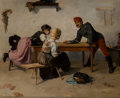 Paintings, Lajos Karcsay (Hungarian, 1860-1932). Off Duty, 1880. Oil on canvas laid on Masonite. 20-3/4 x 26-3/4 inches (52.7 x 67....