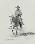 """Works on Paper:Drawing, Robert """"Shoofly"""" Shufelt (American, b. 1935). Ride'N, 1991. Graphite on paper. 14-1/4 x 11-1/4 inches (36.2 x 28.6 cm) (..."""