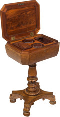 Furniture , A William IV Inlaid Wood Teapoy, 19th century. 28-3/8 x 18 x 14 inches (72.1 x 45.7 x 35.6 cm). ...