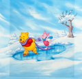 Animation Art:Production Drawing, Winnie the Pooh and Piglet Consumer Product Illustration (WaltDisney, c. 1990s)....