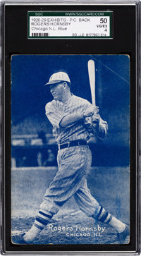 1926-29 Exhibits Rogers Hornsby (Chicago-Blue) SGC 50 VG/EX 4