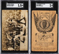 Boxing Cards:General, 1910 Jack Johnson/James Jeffries SGC-Graded Post Card Pair (2). ...