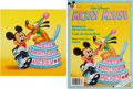 Animation Art:Production Drawing, Mickey Mouse Magazine Cover Original Art (Walt Disney,1988).... (Total: 2 Items)