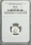 Hong Kong , Hong Kong : British Colony. Victoria 5 Cents 1899 MS66 NGC,...