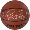 Autographs:Others, Rick Barry Signed Basketball....