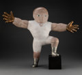 Sculpture, Allen Linder (American, 21st Century). Man Thinking Big. Marble, bronze, pewter, and jade. 25 x 29 x 9 inches (63.5 x 73...