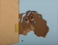 Animation Art:Production Cel, Lady and the Tramp Lady in Muzzle Production Cel (WaltDisney, 1955)....