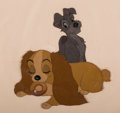 Animation Art:Production Cel, Lady and the Tramp Production Cel (Walt Disney, 1955)....