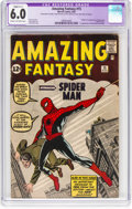 Silver Age (1956-1969):Superhero, Amazing Fantasy #15 (Marvel, 1962) CGC Apparent FN 6.0 Slight (C-1) Cream to off-white pages....