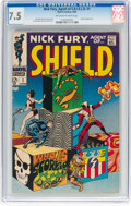 Silver Age (1956-1969):Superhero, Nick Fury, Agent of S.H.I.E.L.D. #1 (Marvel, 1968) CGC VF- 7.5 Off-white to white pages....