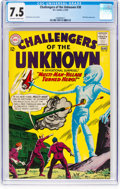 Silver Age (1956-1969):Science Fiction, Challengers of the Unknown #30 (DC, 1963) CGC VF- 7.5 Off-white to white pages....