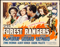 """The Forest Rangers (Paramount, 1942). Folded, Fine. Half Sheet (22"""" X 28"""") Style A. Action"""