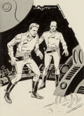 Original Comic Art:Illustrations, Wally Wood (American, 1927-1981). Earthblood, If ScienceFiction interior illustration, June ...