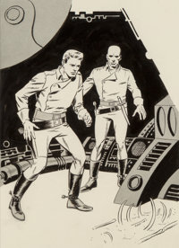 Wally Wood (American, 1927-1981) Earthblood, If Science Fiction interior illustration, June 1966 Ink on paper 9 x