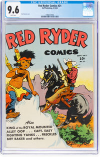 Red Ryder Comics #21 (Dell, 1944) CGC NM+ 9.6 White pages
