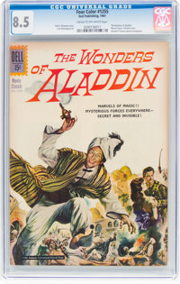 Four Color #1255 The Wonders of Aladdin (Dell, 1961) CGC VF+ 8.5 Cream to off-white pages